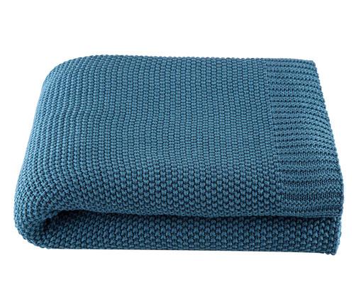 Manta em Tricô Loom - Azul, Azul | WestwingNow