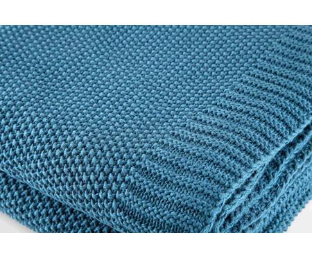 Manta em Tricô Loom - Azul | WestwingNow