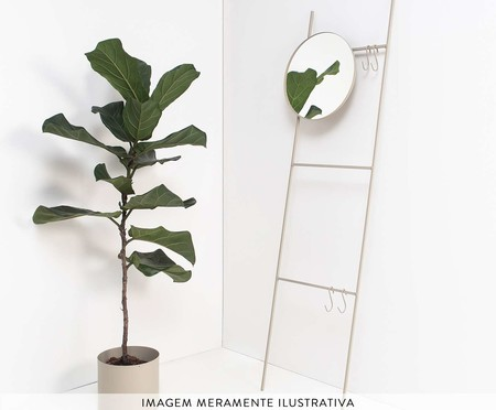 Espelho Redondo Escadinha Merle - Cinza | WestwingNow