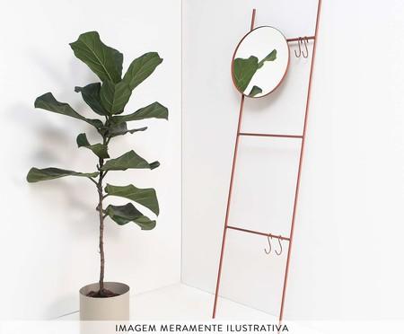 Espelho Redondo Escada Merle - Terracota | WestwingNow