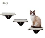 Jogo de Prateleiras para Gato Degraus - Preto | WestwingNow