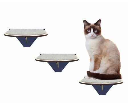 Jogo de Prateleiras para Gato Degraus - Azul | WestwingNow