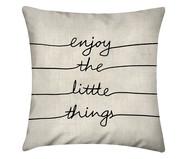 Capa de Almofada em Linho Misto Enjoy The Little Things | WestwingNow
