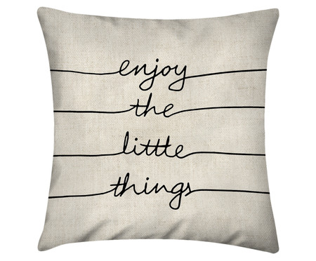 Capa de Almofada Enjoy The Little Things | WestwingNow