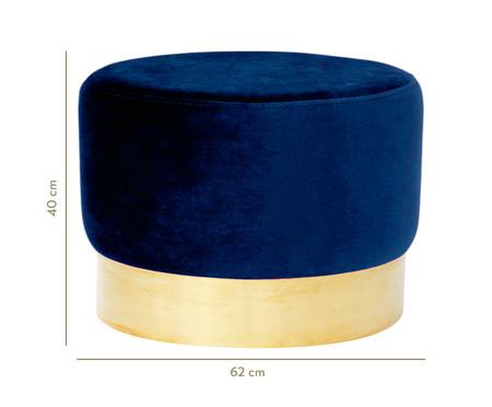 Pufe em Veludo Harlow - Azul Índigo   WestwingNow