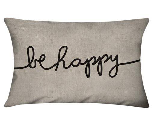 Capa de Almofada em Linho Misto Be Happy, Colorido | WestwingNow