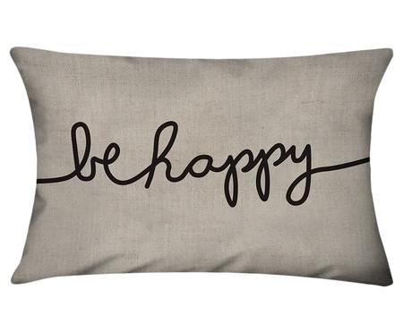 Capa de Almofada em Linho Misto Be Happy | WestwingNow
