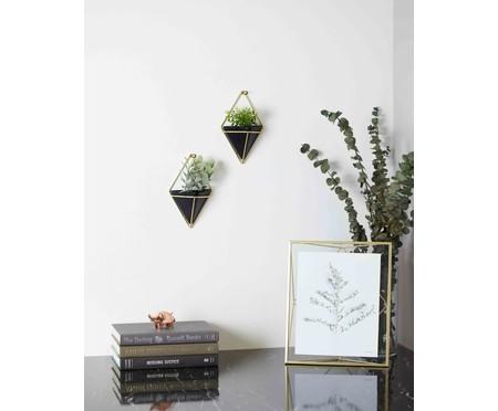 Jogo de Cachepots Decorativo de Parede Lis - Preto | WestwingNow