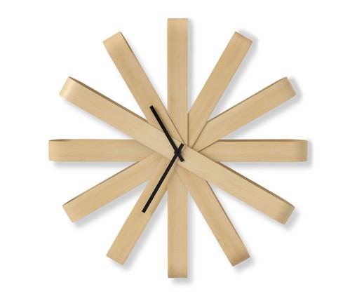 Relógio de Parede Sybil - Natural, Madeira Natural | WestwingNow