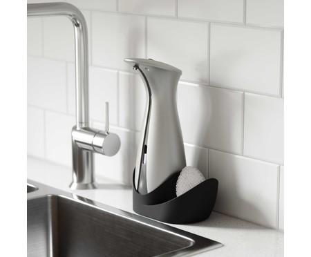 Dispenser de Sabonete Líquido com Sensor e Porta Esponja Joy - Cinza   WestwingNow