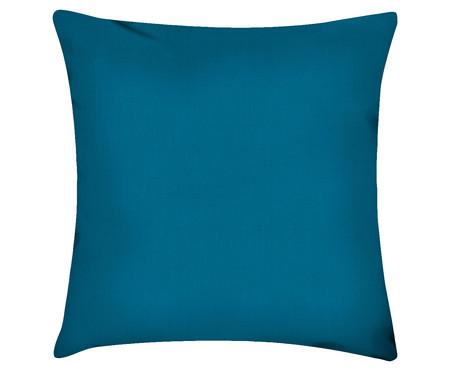 Capa de Almofada em Linho Misto Lauren - Azul Petróleo | WestwingNow