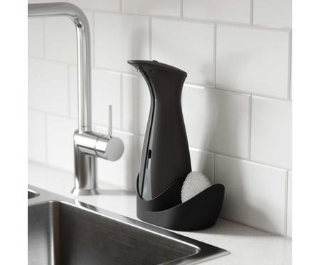 Dispenser de Sabonete Líquido com Sensor e Porta Esponja Joy - Preto | WestwingNow