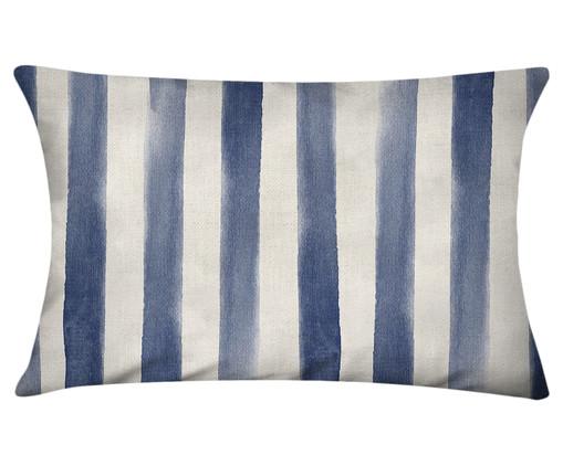Capa de Almofada em Linho Misto Hannes - Branco e Azul, Branco, Azul | WestwingNow