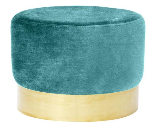 Pufe Harlow - Verde Celadon, Verde, Dourado | WestwingNow