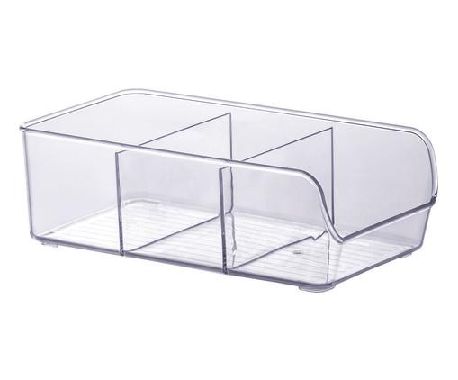 Caixa Organizadora com Divisórias Flo - Transparente, Transparente | WestwingNow