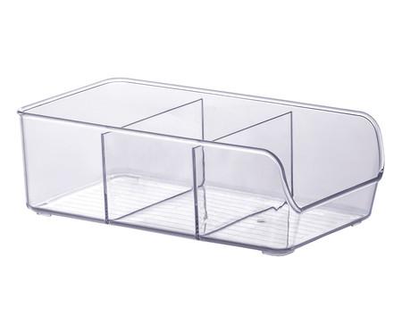 Caixa Organizadora com Divisórias Flo - Transparente | WestwingNow
