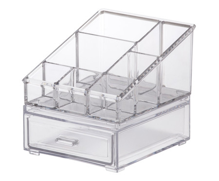 Caixa Organizadora de Cosméticos Tash - Transparente | WestwingNow