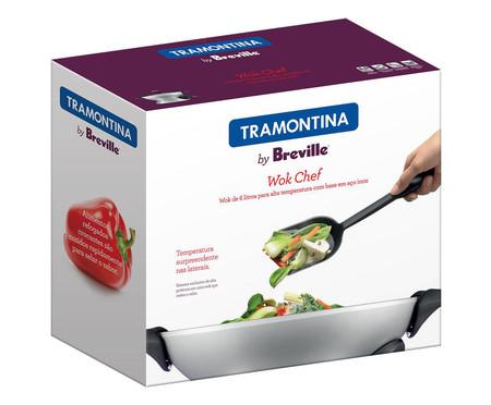 Panela Wok Chef Elétrica Prata by Breville - 6 L | WestwingNow