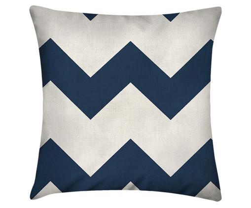 Capa de Almofada Rezon, Branco, Azul | WestwingNow