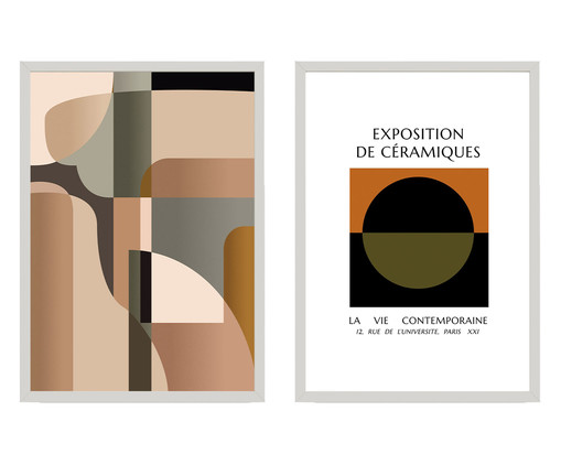 Composição 2 Quadros Formes Et Couleurs, Colorido   WestwingNow