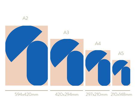 Quadro Geometric Shapes Blue - Roseanne Kenny | WestwingNow