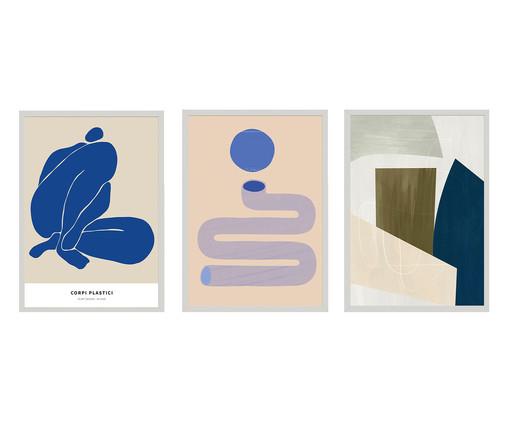 Composição 3 Quadros Couleurs de Bleu, Colorido | WestwingNow