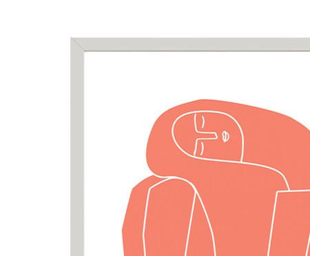 Composição 2 Quadros Think Pink Sitting Girl Pink | WestwingNow