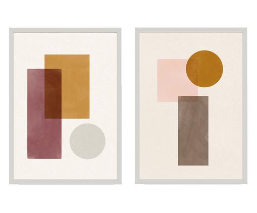 Composição 2 Quadros Toffie Geometric Duo, Colorido   WestwingNow