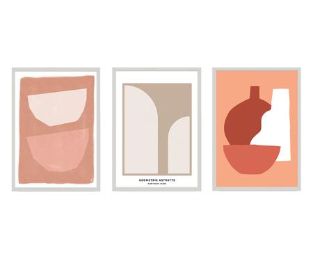 Composição 3 Quadros Terracotta Neutre | WestwingNow