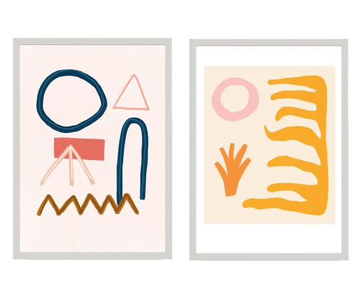 Composição 2 Quadros Toffie Abstract Duo, Colorido | WestwingNow