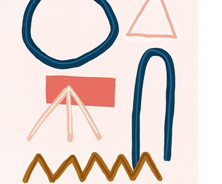 Composição 2 Quadros Toffie Abstract Duo | WestwingNow