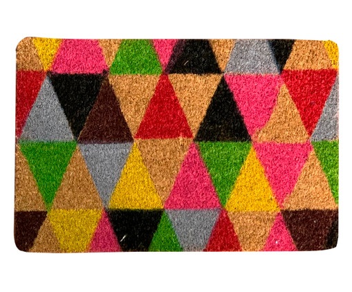 Capacho Indiano Top Triangles, Colorido   WestwingNow
