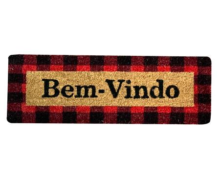 Capacho Indiano Top Bem-Vindo - Bege e Vermelho | WestwingNow