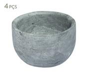 Jogo de Bowls em Pedra Sabão Luigi - Cinza   WestwingNow