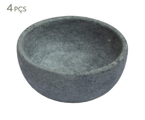 Jogo de Bowls em Pedra Sabão Luigi - Cinza, Cinza   WestwingNow