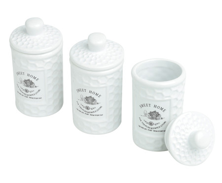 Jogo de Potes em Porcelana Sweet Home - 150ml   WestwingNow
