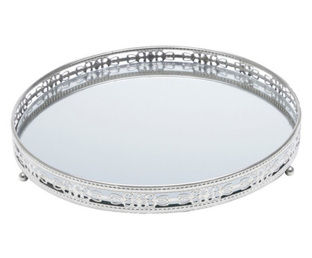 Bandeja Decorativa Espelhada Faiga - Prata | WestwingNow
