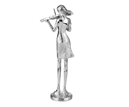 Escultura em Resina Violinista - Prata | WestwingNow