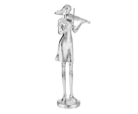 Escultura em Resina Violinista - Prata   WestwingNow