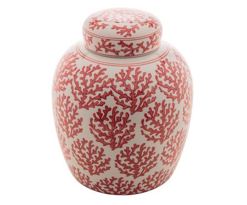 Pote em Porcelana Lopez lll, Vermelho,Branco | WestwingNow