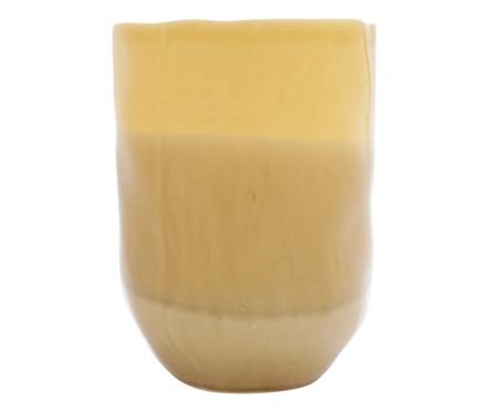 Vaso em Cerâmica Kelsea - Amarelo | WestwingNow