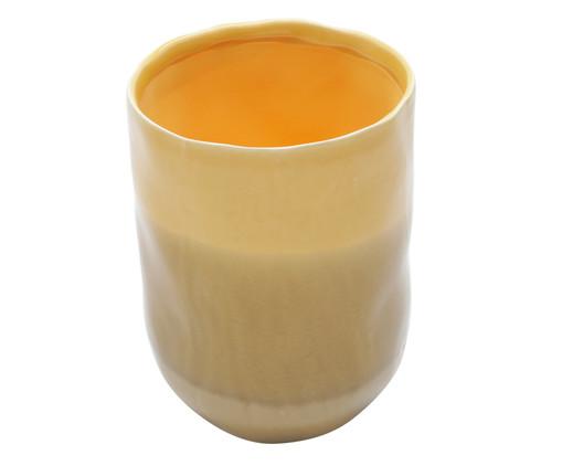 Vaso em Cerâmica Kelsea - Amarelo, Amarelo | WestwingNow