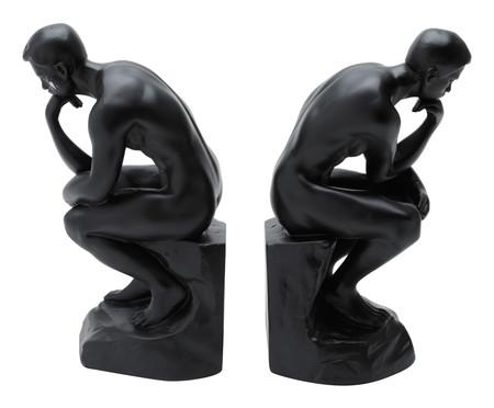 Escultura em Resina Pensador - Preto   WestwingNow