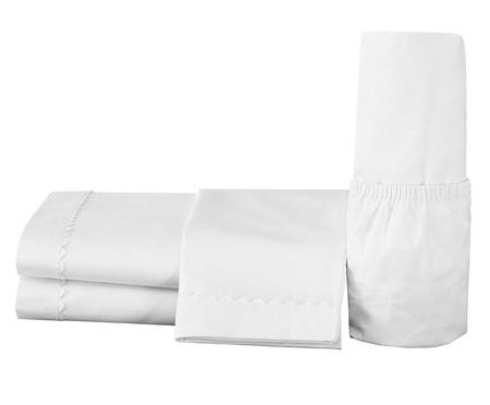 Jogo de Lençol Cianinha Branco - 180 Fios   WestwingNow