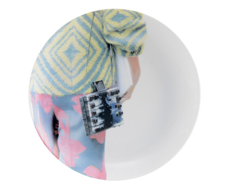 Jogo de Pratos para Sobremesa em Porcelana Leo Faria - Colorido   WestwingNow
