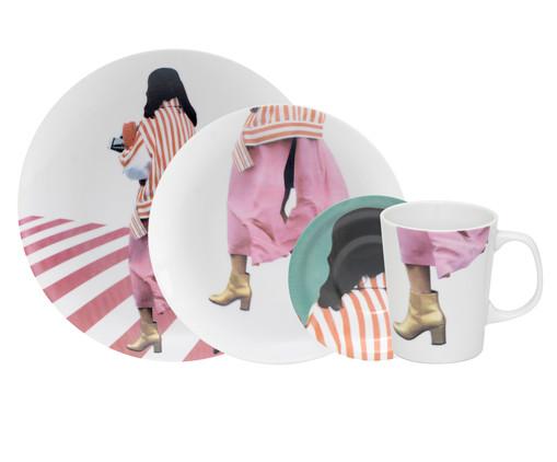 Jogo de Mesa em Porcelana Diana - 01 Pessoa, Multicolorido | WestwingNow
