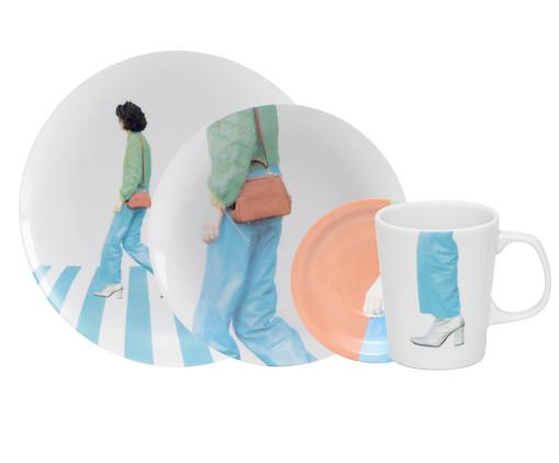 Jogo de Mesa em Porcelana Elza - 01 Pessoa, Multicolorido | WestwingNow