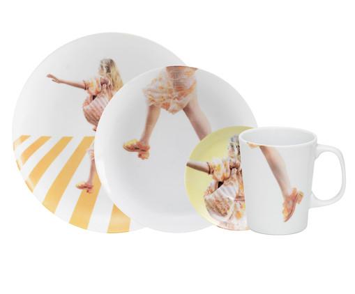 Jogo de Mesa em Porcelana Stefanie - 01 Pessoa, Multicolorido | WestwingNow
