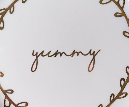 Prato de Sobremesa em Porcelana Yummy - Branco | WestwingNow