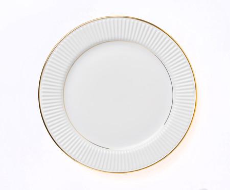 Prato Raso em Porcelana Plie - Branco | WestwingNow